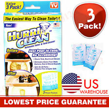 Hurriclean Automatic Toilet Bowl Tank Cleaner AS SEEN ON TV 3-PACK Made in USA