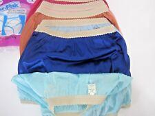 Vtg Montgomery Ward 6 Lot Nylon Satin Granny Panties Woven Waist Womens 5 New