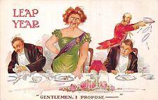 POSTCARD  COMIC   LEAP YEAR  Gentlemen  I  propose....   SPURGIN