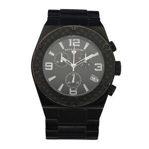 Swiss Legend 316L Black Ion Plated  Stainless Steel Chrono Quartz Men's  Watch