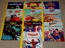 Lot 10 Boys French Story Books Marvel Disney Nickelodeon Softcover VGC Teacher's