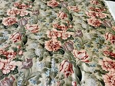 """Swaffer 'Benenden' Teal, Blue, Green & Ivory Floral Fabric 18x18"""" Beautiful"""