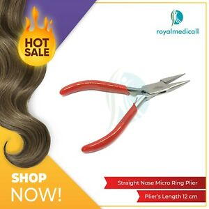 New Classic Micro Rings Hair Extensions Pliers Straight Nose Pliers UK