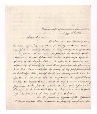 Surgeon Samuel D. Gross Signed Letter / 1853 Ama Convention + Crystal Palace