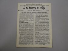 I. F. Stone's Weekly Vol. XI, No. 1 from January 7, 1963! RARE indie paper!