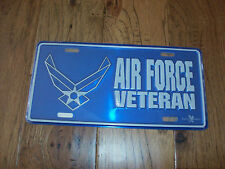 U.S AIR FORCE VETERAN LICENSE PLATE, METAL UNIQUE RAISED LETTER 3D DESIGN.