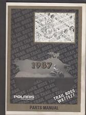 1987 POLARIS ATV TRAIL BOSS PARTS MANUAL P/N 9911349 (760)