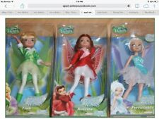 Disney Fairies Periwinkle Tink Rosetta Dolls Secret the Wings Lot of 3 Dolls NEW