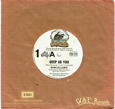"MARK GILLESPIE - DEEP AS YOU - RARE 7"" 45 VINYL RECORD - 1980"