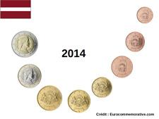 Série 8 pièces Euros Lettonie 2014 - 1 centimes à 2 Euros UNC