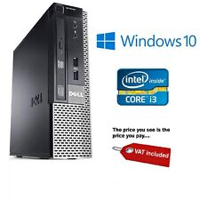 Dell HDMI i3 3.3Ghz Desktop Tower PC Computer - 4GB RAM - 250GB HDD Windows 10