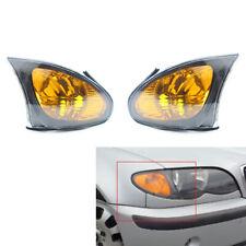 For 02-05 BMW E46 3Series 4Dr Euro Corner Lights-Crystal Clear W/Smoke Trim