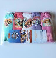 5 PACK Girls PAW PATROL BRIEFS Kids Pants Infants Knickers Age 18m 2 3 4 5 Yrs.