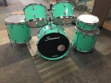 Vintage Slingerland 6 Piece Set 1960s, 12,14,16,20 Teal Green Blue RARE