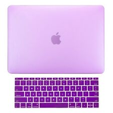 2in1 Purple Matte Hard Case+Keyboard Skin for Macbook Pro 13 WITHOUT Touch Bar