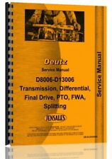 Deutz Allis D10006 D13006 D8006 D9006 Tractor Service Repair Manual