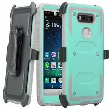 Shockproof 360° rotating Belt Clip Holster Stand Film Hard Case Cover For LG V20