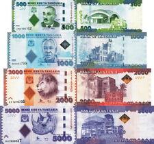 TANZANIA - Lot Lotto 4 banconote 500/1000/2000/5000 shilingi FDS - UNC
