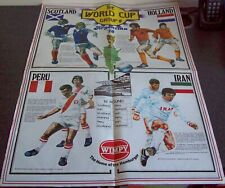 Wimpy Hamburgers WORLD CUP Group 4 Poster - 1978 - Argentina (Scotland) - VG
