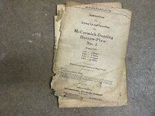 International Harvester 3 plow disk harrow owners & parts manual