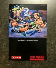 Final Fight 2 - SNES - Reproduction Manual Instruction Booklet - Super Nintendo