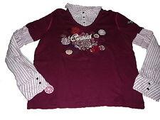 Cecil tolles Blusenshirt Langarm Shirt Gr. XL weinrot !!