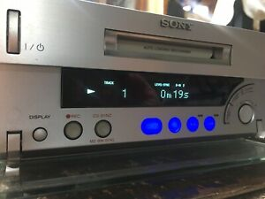 Sony Mini Disc Player Recorder MDS-SD1 With Discs
