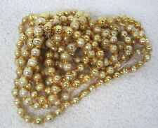 "Vintage Gold Mercury Glass Bead Christmas Garland 94"" Just Over 1/4"" Beads Gld48"