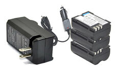 New 3x BLM1 battery + Charger For OLYMPUS E-3 E-5 E-30 BLM-1 Camera HLD4 Grip