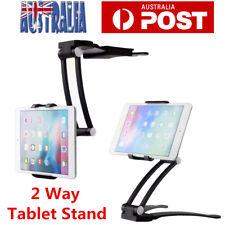 Universal Folding Tablet Mount Holder Stand 2 in 1 Desktop Wall Mount Rack Black