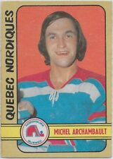 Michel Archambault 1972-73 O-Pee-Chee OPC WHA Card #320 Quebec Nordiques