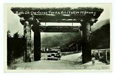 YELLOWSTONE PARK - ARCH ON THREE FORKS GALLATIN HIGHWAY / GATEWAY 1920's RPPC