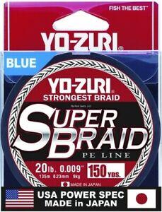 Yo-Zuri Superbraid 150 yd Floating Braid, Blue, 20 lb