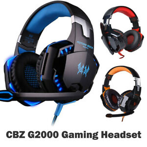 3.5mm Gaming Headset MIC LED Headphones for PC SW Laptop PS4 Slim Xbox One UK