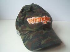 Wrangler Camo Hat Camouflage Hook Loop Baseball Cap