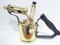 VINTAGE 1/2 PINT PLUMBERS BRASS BLOW TORCH LAMP FROM VERITAS MADE IN BRITAIN