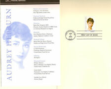 #3786 First Day Ceremony Program 37c Audrey Hepburn Stamp