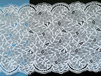 """Laces Galore~Silver Grey Soft Stretch French Lace 6.5""""/17 cm  Table Runner Craft"""