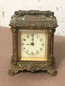 Ornate Antique Waterbury Clock Company Carriage Clock
