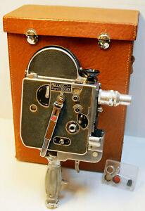 "CAMERA PAILLARD BOLEX H 8 LEADER - 8 mm - 1949  - N° 51713 + POIGNEE-mount ""D"""