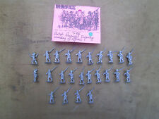 15mm Mini Figs  French & Indian war British Provincial Infantry Marching w / Com
