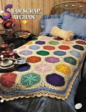 Star Scrap Afghan  Annie's Attic Crochet Afghan Pattern Leaflet