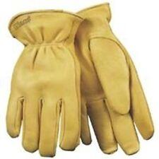 HeatKeep 90HK Driver Gloves, Men's, Medium, Deerskin Leather, Yellow, Thermal Li