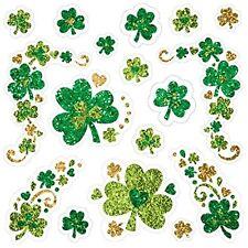Amscan Lucky Irish Green St. Patrick's Day Glittered Shamrock Body Jewelry