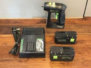 Festool C12 Drill Driver, 2 Batteries & Charger.
