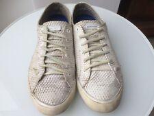 Vintage DKNY White Snakeskin-Effect Sneakers UK Size 6