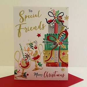 Jonny Javelin Special Friends Merry Christmas Card Mulled Wine Presents/XSR26