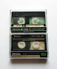 Two Denon HD8 *Metal Particle* High Bias Cassette Tapes