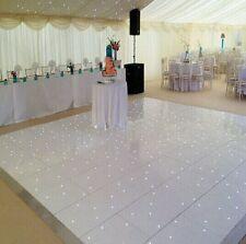 20ft x 20ft White LED Dance Floor, White Gloss Acrylic with 6 Flight Cases