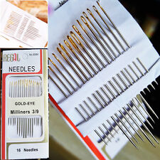 16 pcs/Bag Large Eye Thick Sewing up Needle Embroidery Mending Quilt Hand DIY